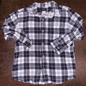 Boys plaid button down shirt